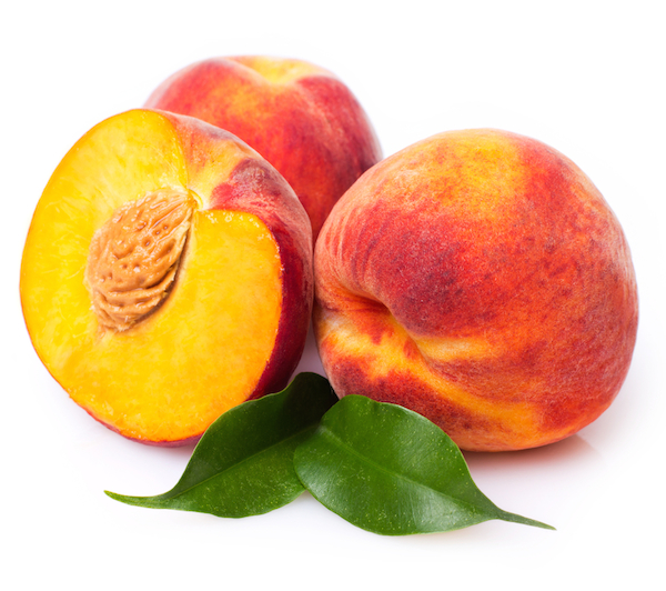 peach on white background